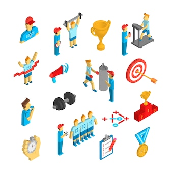 Coaching sport pictogram isometrisch