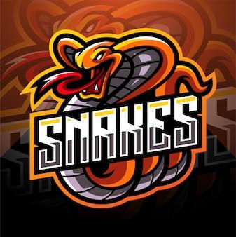 Cobra esport mascotte logo ontwerp