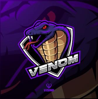 Cobra hoofd mascotte logo ontwerp