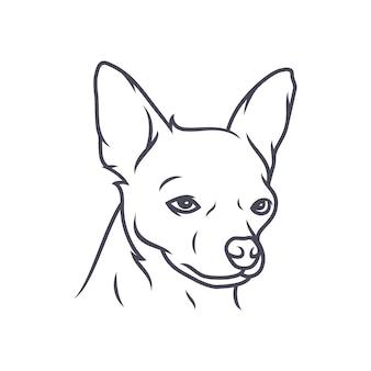 Cockapoohond - vectorembleem / pictogramillustratiemascotte