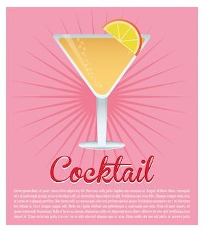 Cocktail cosmopolitan drinkt roze achtergrond