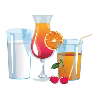 Cocktail en sinaasappelsap