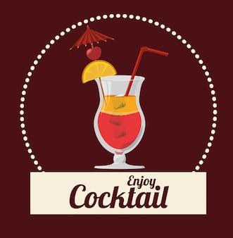 Cocktail iconen ontwerp