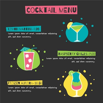 Cocktail menusjabloon