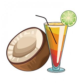Cocktail met kokosnoot