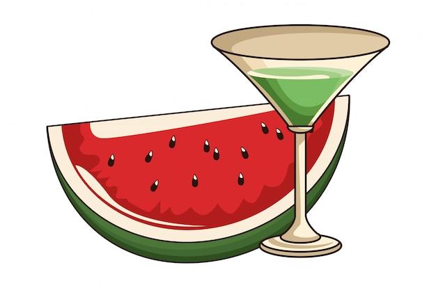 Cocktail met watermeloen