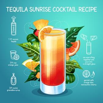 Cocktail recept concept