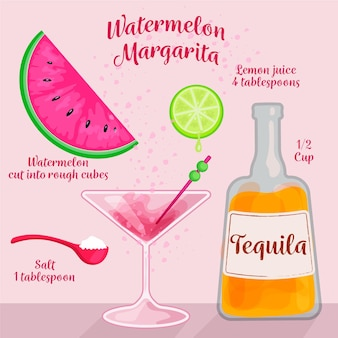 Cocktail recept illustratie