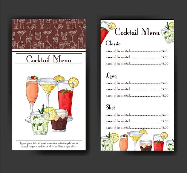 Cocktaildrankmenu