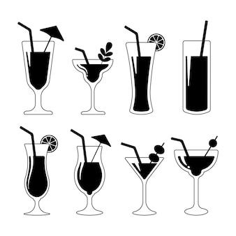 Cocktailglas. alcoholische sappen.