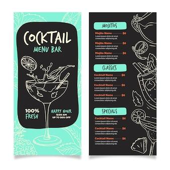 Cocktailkaart concept