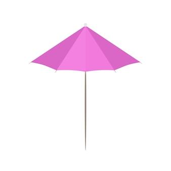 Cocktailparaplu in een vlakke stijl. cocktail paraplu pictogram. geïsoleerd
