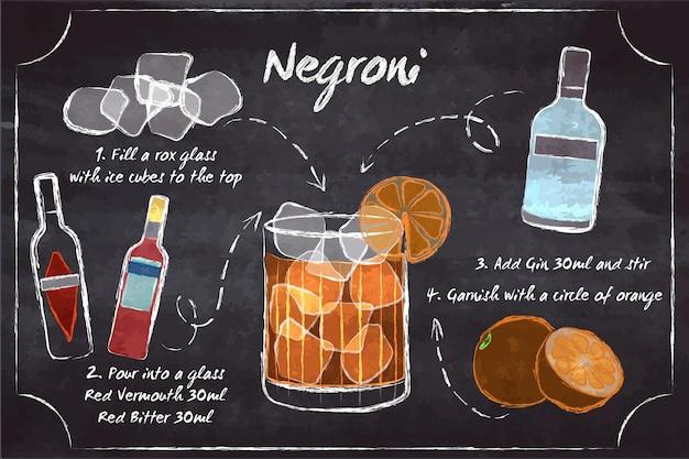 Cocktailrecept met instructies en ingrediënten