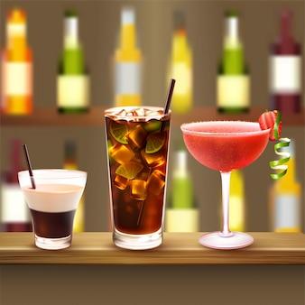 Cocktails illustratie