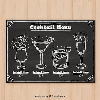 Cocktailsinzameling in bordstijl