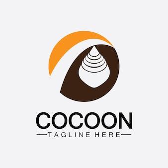 Cocoon logo vector illustratie ontwerpsjabloon