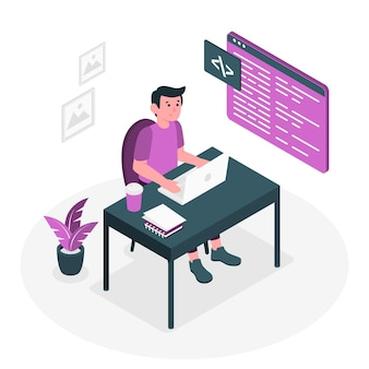 Code typen concept illustratie