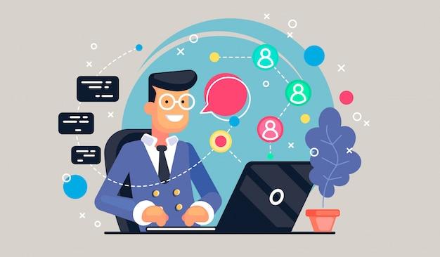 Codeconcept student die laptops gebruikt voor het ontwikkelen van programma's en app. software concept.