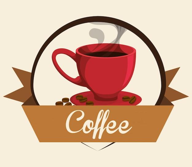 Cofee iconen ontwerp