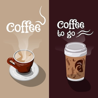 Coffe banner ontwerp