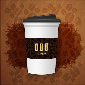 Coffee achtergrond ontwerp