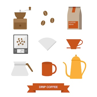Coffee elementen collectie