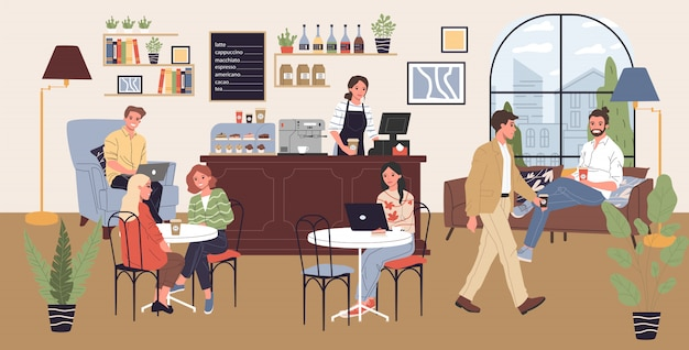 Coffee shop illustratie