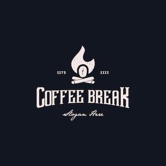 Coffeebreak logo ontwerp vectorillustratie