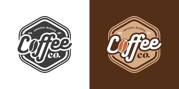Coffeeshop-badge in vintage stijl
