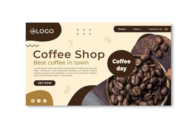 Coffeeshop bestemmingspagina sjabloon Gratis Vector
