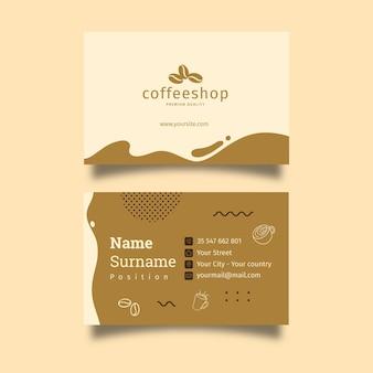 Coffeeshop dubbelzijdig visitekaartje