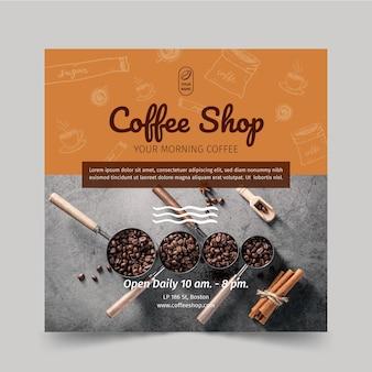 Coffeeshop flyer vierkant