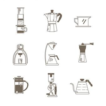 Coffeeshop gereedschap