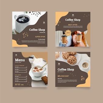 Coffeeshop instagram posts-collectie