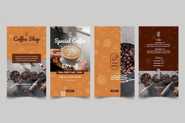 Coffeeshop instagram-verhalen