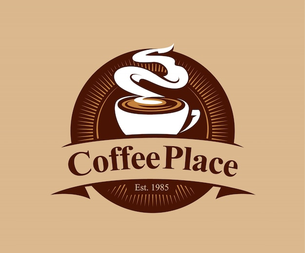 Coffeeshop kenteken in vintage stijl