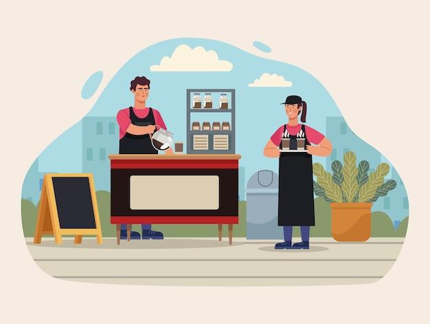 Coffeeshop kiosk
