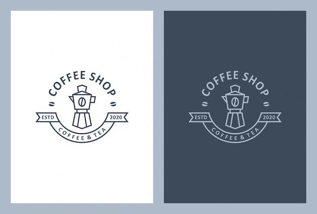 Coffeeshop logo ontwerp in vintage stijl