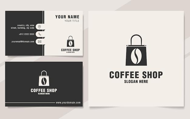 Coffeeshop logo sjabloon op monogramstijl