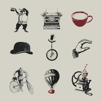 Coffeeshop logo zakelijke huisstijl set
