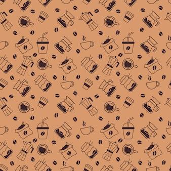 Coffeeshop naadloze patroon