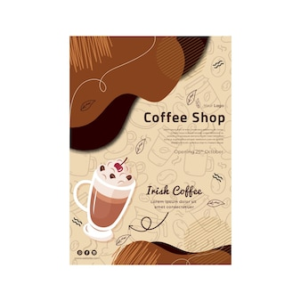Coffeeshop poster sjabloon