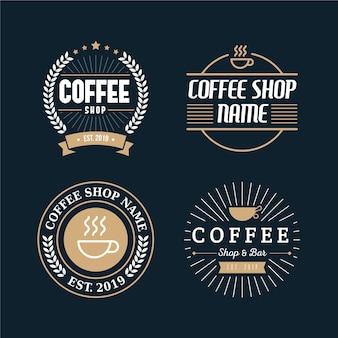 Coffeeshop retro logo collectie