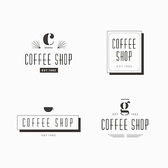 Coffeeshop retro logo sjabloon collectie