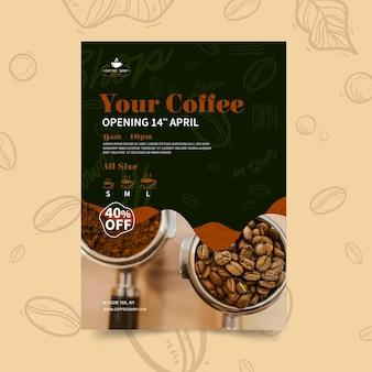 Coffeeshop verticale flyer-sjabloon