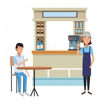 Coffeeshops cartoons