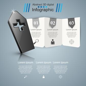 Coffin-logo. gezondheid, medische infographics