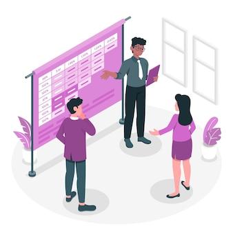 Cohort analyse concept illustratie