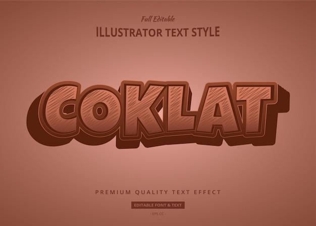Coklat-teksteffect