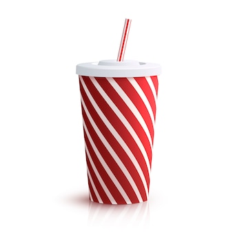 Cola gestreept glas